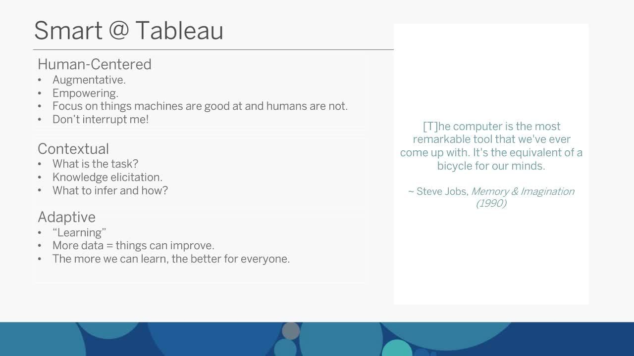 BI Trend #1: AI and machine learning | Tableau Software
