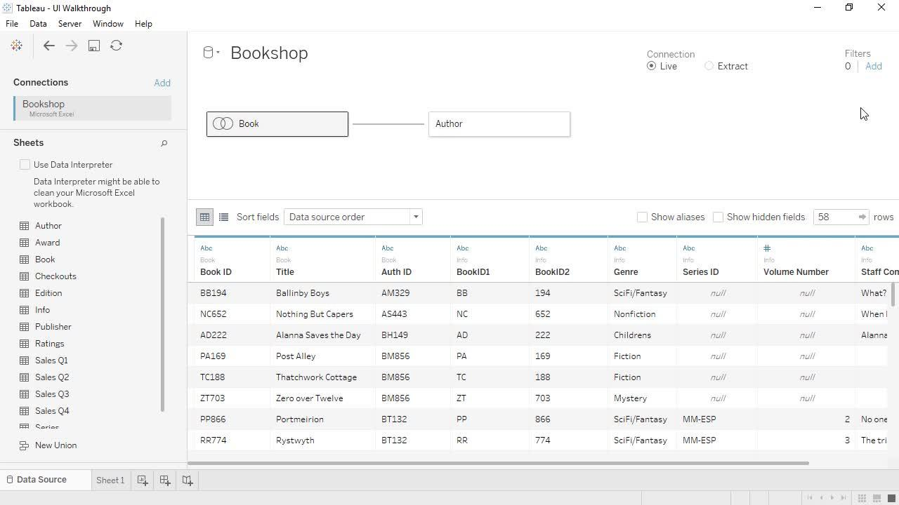 Use Relationships For Multi Table Data Analysis Tableau