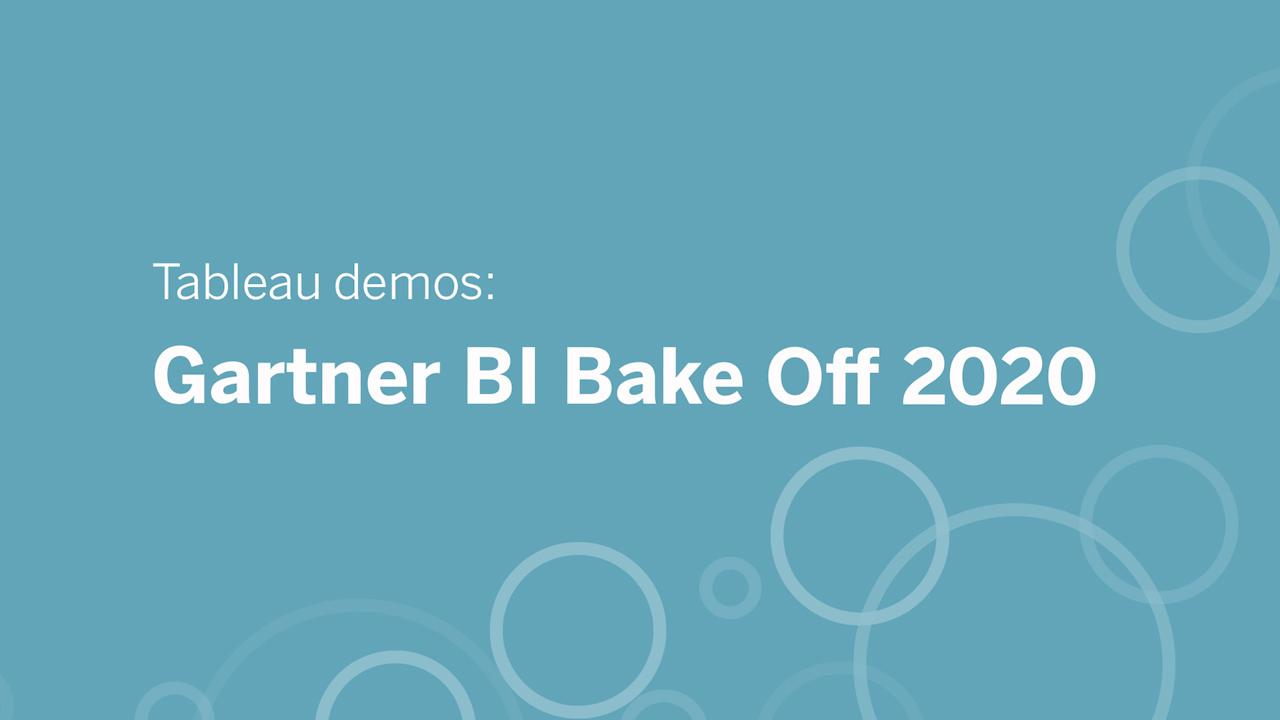 A virtual Gartner BI Bake Off: Analytics for anyone, anywhere, with any data